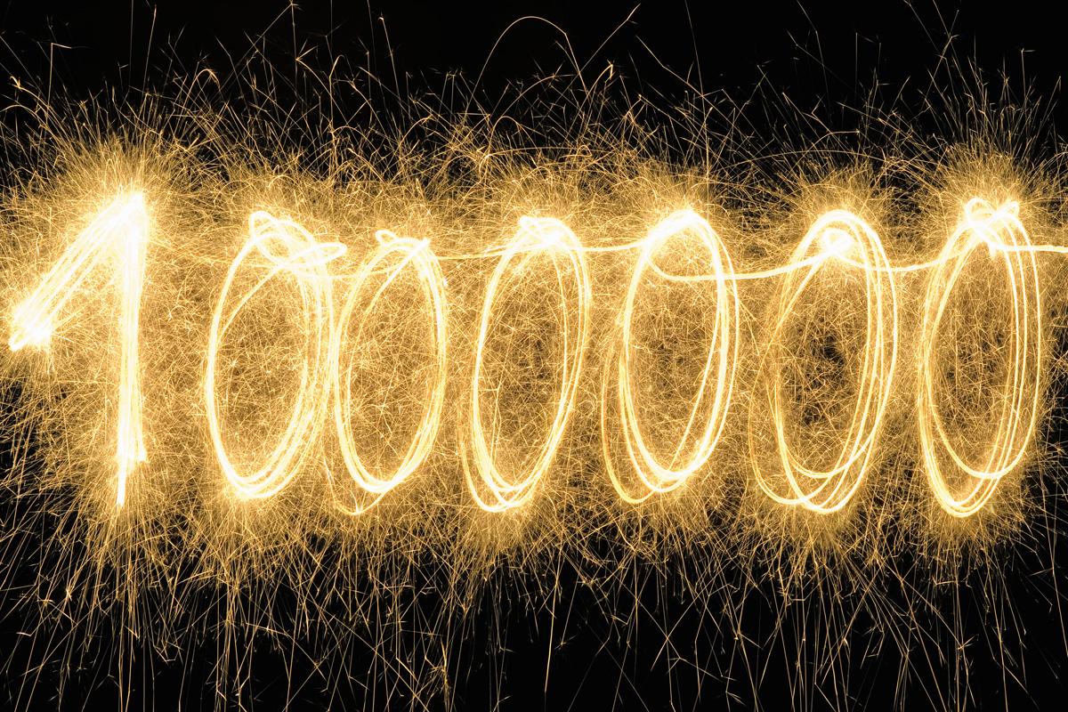 Картинка миллиона цифры